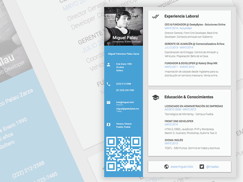 CV Resume Design Template Sketch freebie - Download free resource