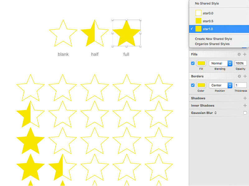 5 Stars Rating Template Sketch freebie - Download free resource for