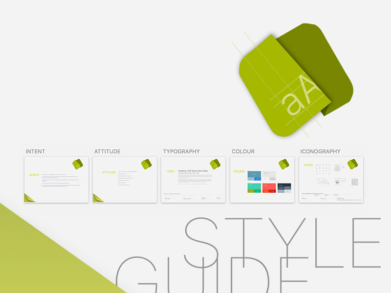 Style Guide Presentation Template Sketch freebie - Download free