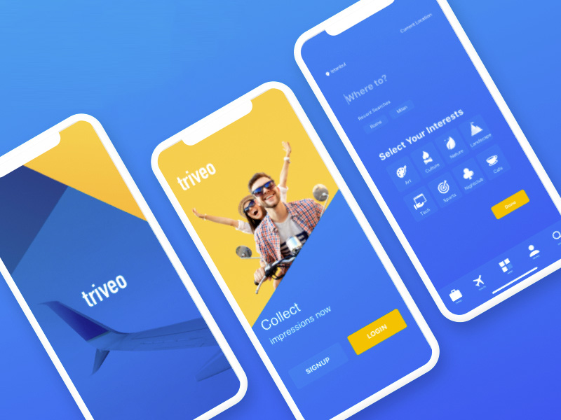 Travel Booking App Sketch freebie - Download free resource for