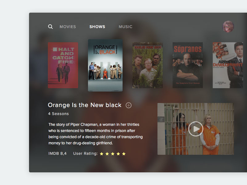 Apple TV App Template Sketch freebie - Download free resource for - Free App Template