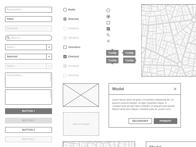 Basic Wireframe Kit Sketch freebie - Download free resource for