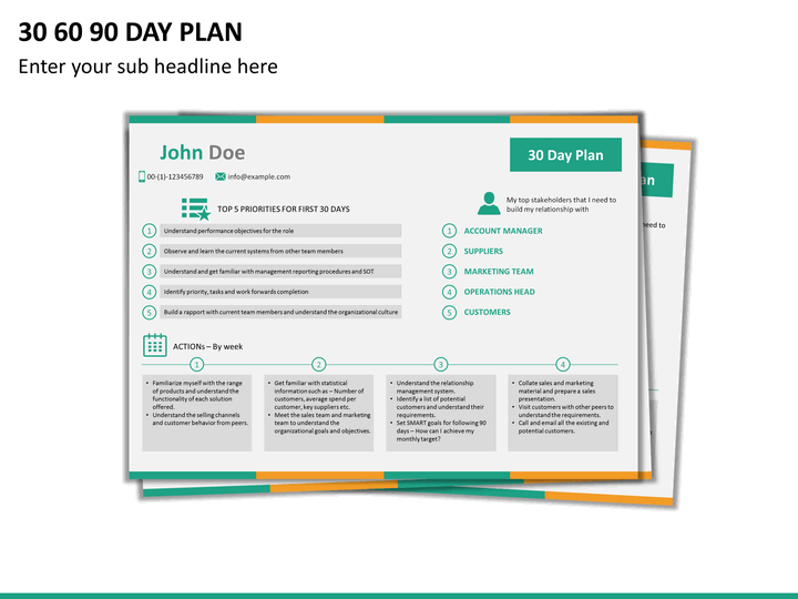 30 60 90 day plan free template