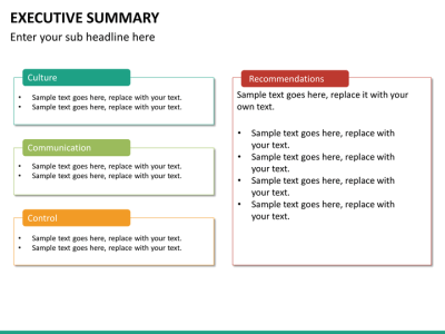 Executive Summary PowerPoint Template | SketchBubble