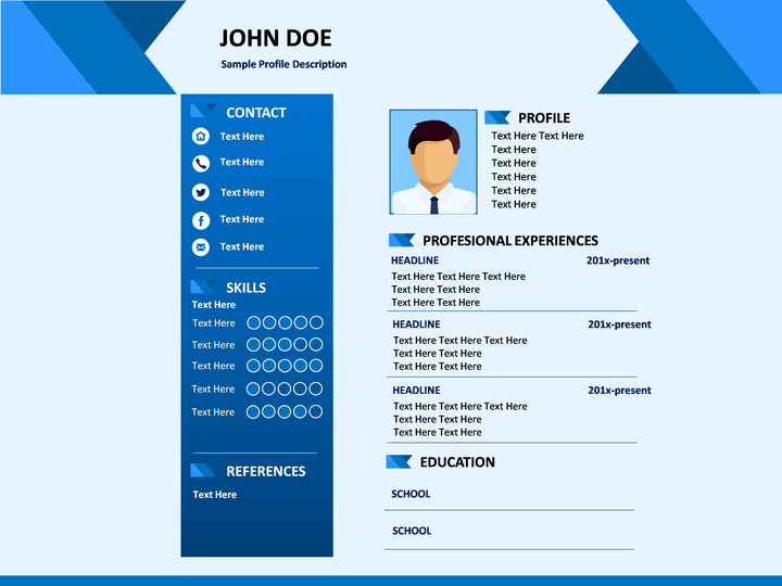 free and premium vcard cv web templates xdesigns cover letter sample for job clean cv resume - Web Resume Template