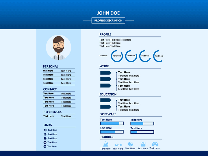 best cv template powerpoint