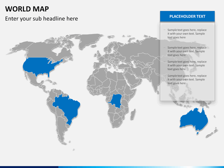 world map ppt