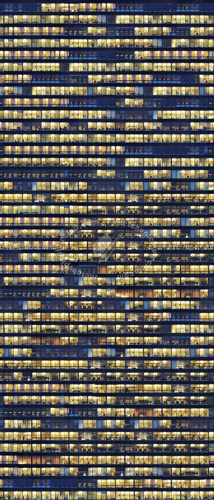 Black And Yellow Wallpaper Glass Building Skyscraper Texture Seamless 00958