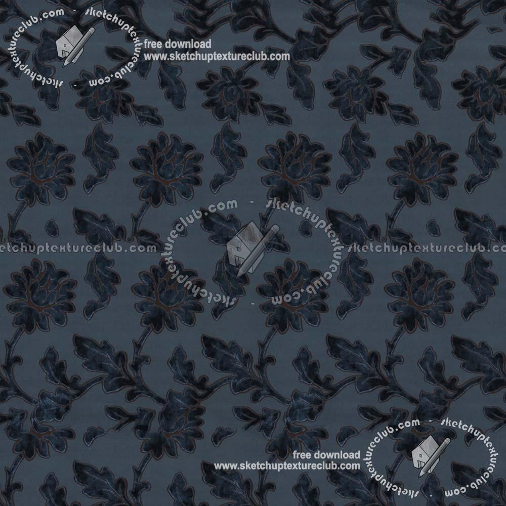 Black Velvet Damask Wallpaper Floral Velvet Fabric Texture Seamless 19421