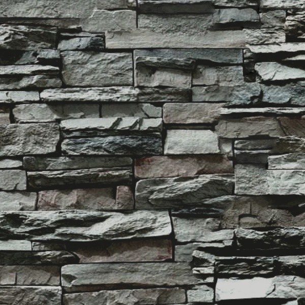 3d Snow Falling Wallpaper Stacked Slabs Walls Stone Texture Seamless 08148