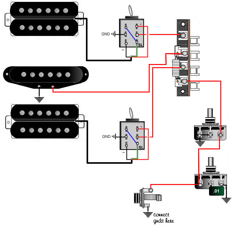 1 Single Coil Humbucker Wiring Wiring Diagram 2019