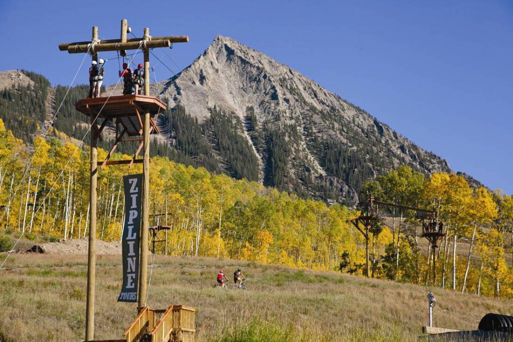 Ziplining fun at Mt. Crested Butte pc: Mt. Crested Butte