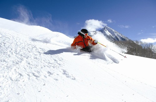 Powder skiing at Crested Butte, Mt. Crested Butte
