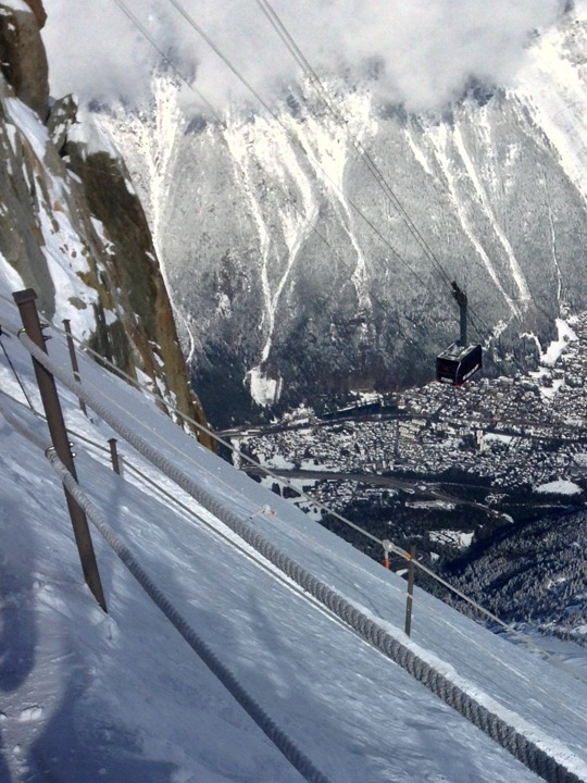 Vallee Blanche view to town