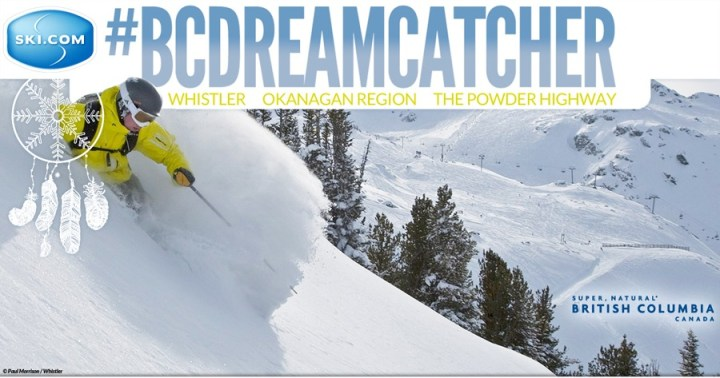 Enter to win three British Columbia ski trips