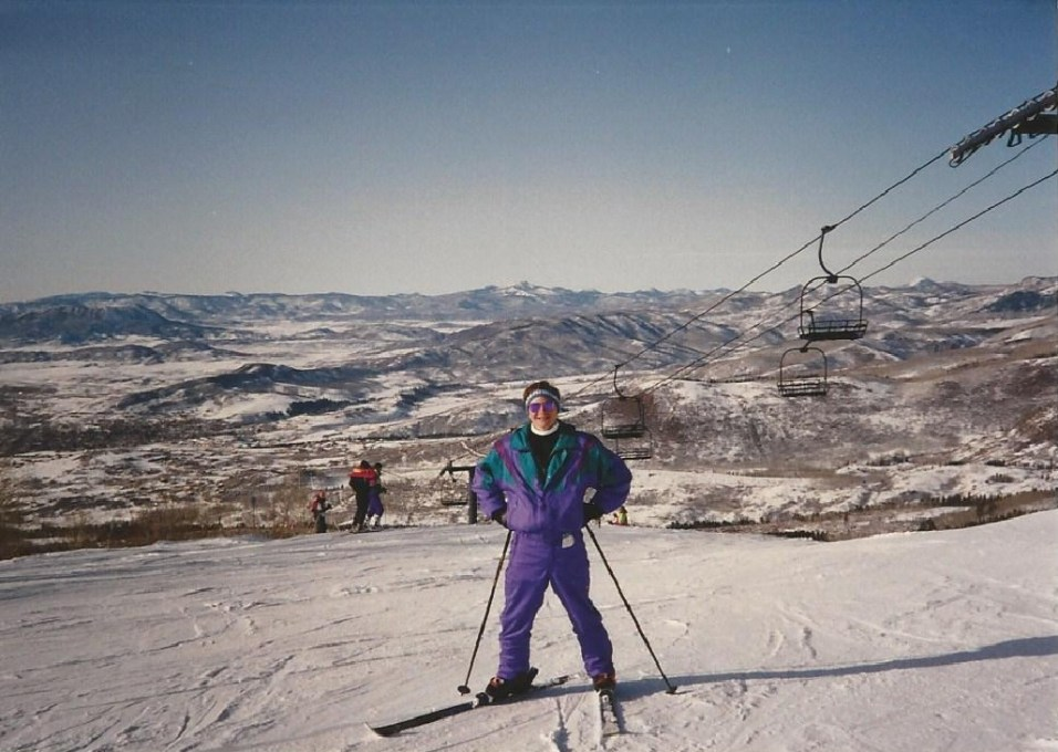 Dan Sherman learning to ski