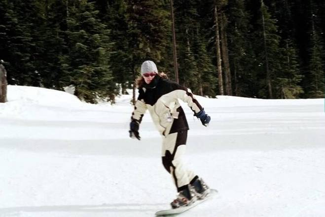 Learning to snowboard at Mt. Bachelor