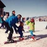 Our learning to ski and snowboard stories