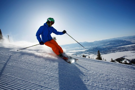 The Crags run provides unbeatable views of the valley below and surrounding mountains.   Photo: Jackson Hole Mountain Resort