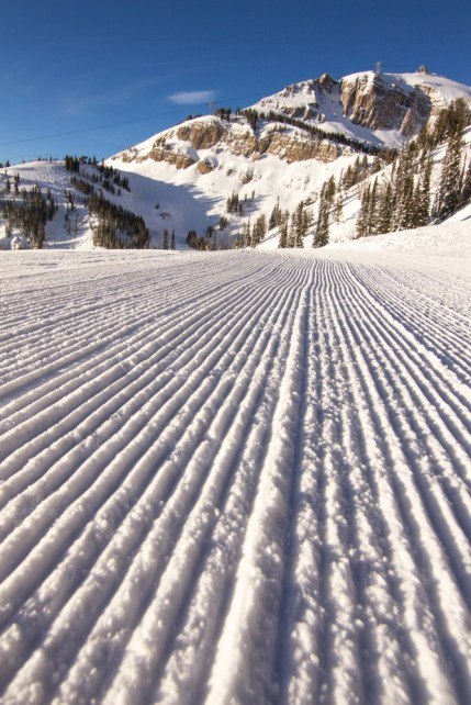 Like a powder day, you'll want to be an early riser to get the best groomed conditions at Jackson Hole. | Photo: Jackson Hole Mountain Resort