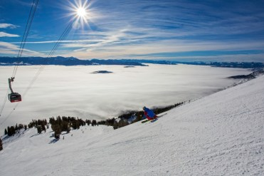 A popular zone for intermediates, Casper area features wide-open cruisers. | Photo: Jackson Hole Mountain Resort