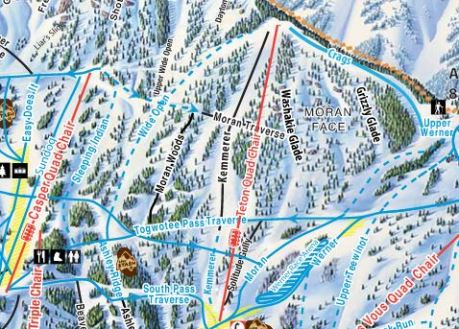 Considered one of the longest and widest Jackson Hole groomers, Open Wide will have you grinning from ear to ear.   Photo: Jackson Hole Mountain Resort