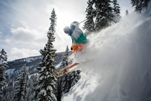 """There are some definite no fall zones above cliffs that do get hucked from time to time,"" says Snowmass ski patroller Delfo 
