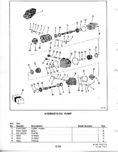 bobcat 843 hydraulic schematic