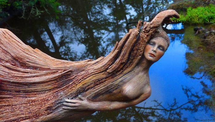 Debra Bernier driftwood sculptures - Click Here for her Etsy store.