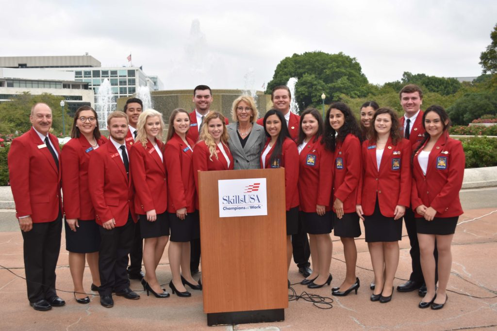 SkillsUSA Members Joined by Secretary of Education In Support of