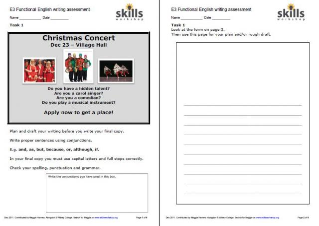 Adult Literacy, Functional English, and GCSE Resources Skills Workshop