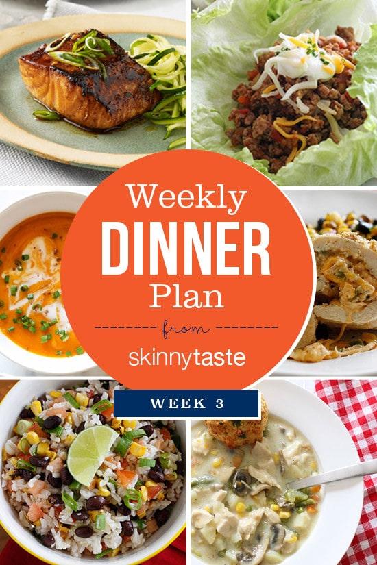 Skinnytaste Dinner Plan Week 3