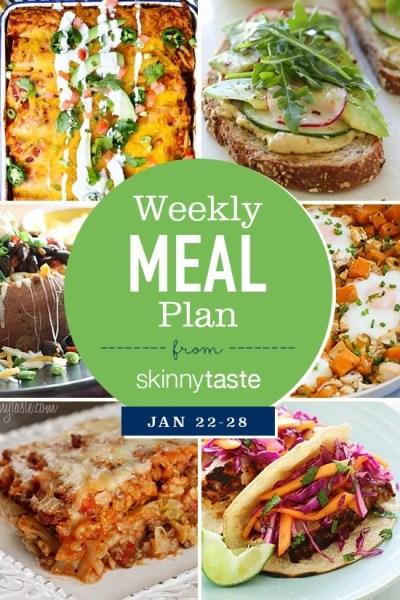 Skinnytaste Meal Plan (January 22-January 28) - Skinnytaste