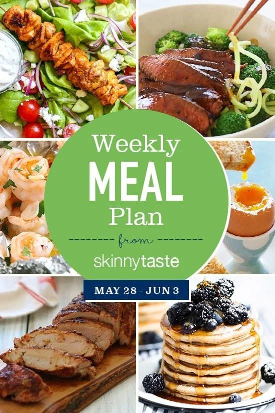 Skinnytaste Meal Plan (May 28-June 3)