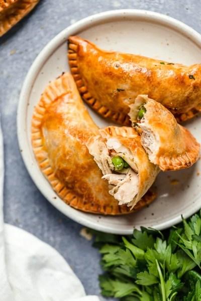 Leftover Turkey Pot Pie Empanadas