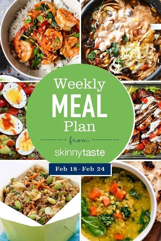 Skinnytaste Meal Plan (February 18-February 24)