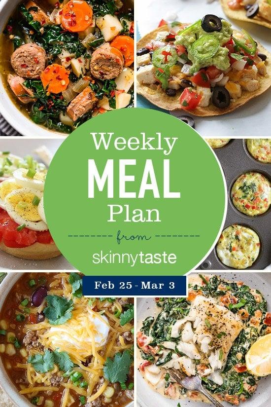 Skinnytaste Meal Plan (February 25-March 3)