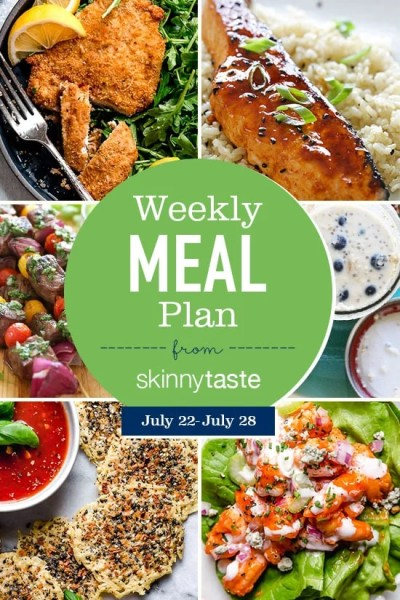 Skinnytaste Meal Plan (July 22-July 28) - Skinnytaste