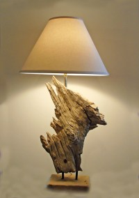 Driftwood Table Lamp- Beach Coastal Lighting