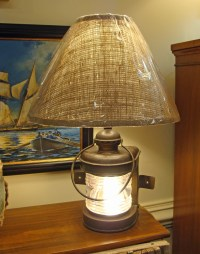 Antique Boat Bow Light Table Lamp: Skipjack Nautical Wares