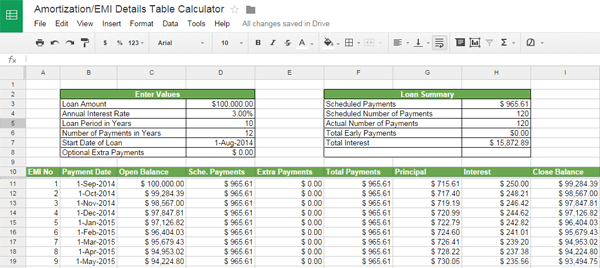 excel mortgage amortization