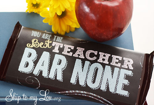 Free Printable Candy Bar Wrappers for Teacher Appreciation