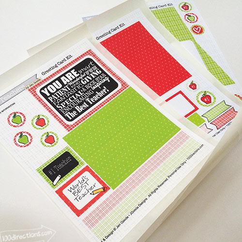 Free printable teacher appreciation card