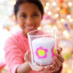 DIY Child's Artwork Candle