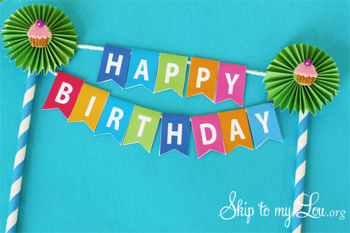 Birthday Cake Bunting Skip To My Lou