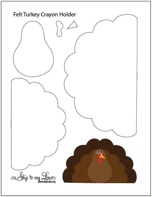 Felt Turkey Crayon Holder Skip To My Lou