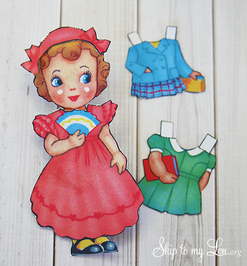 Paper Doll Valentines {Blog Hop} Skip To My Lou