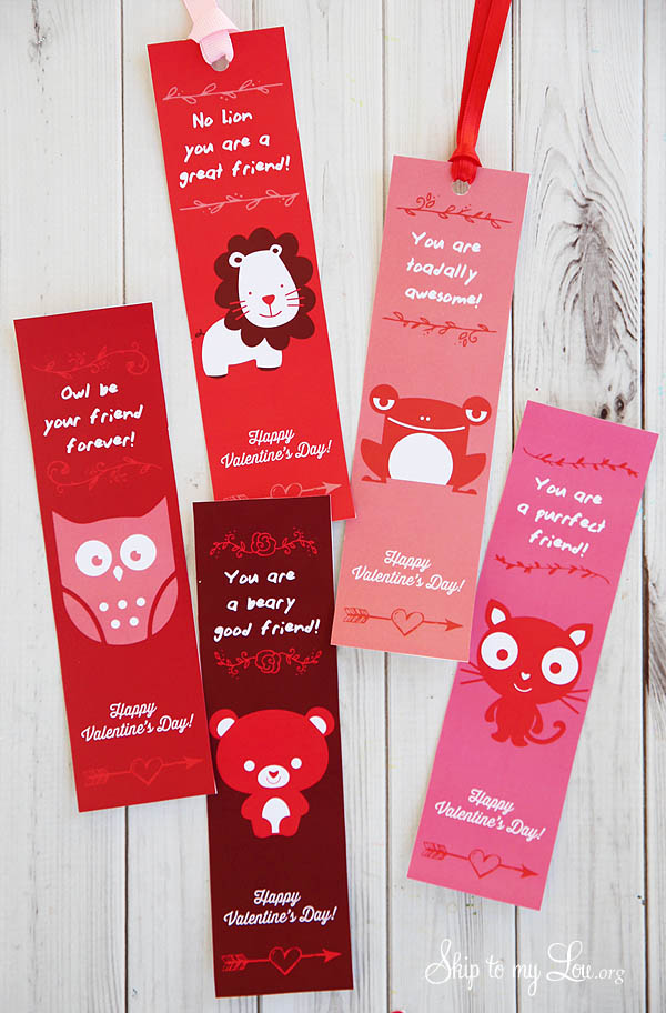 Valentine Printable Bookmarks Skip To My Lou
