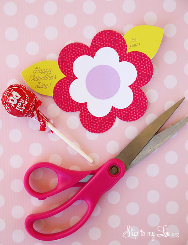Lollipop Flower Valentine Printable Skip To My Lou
