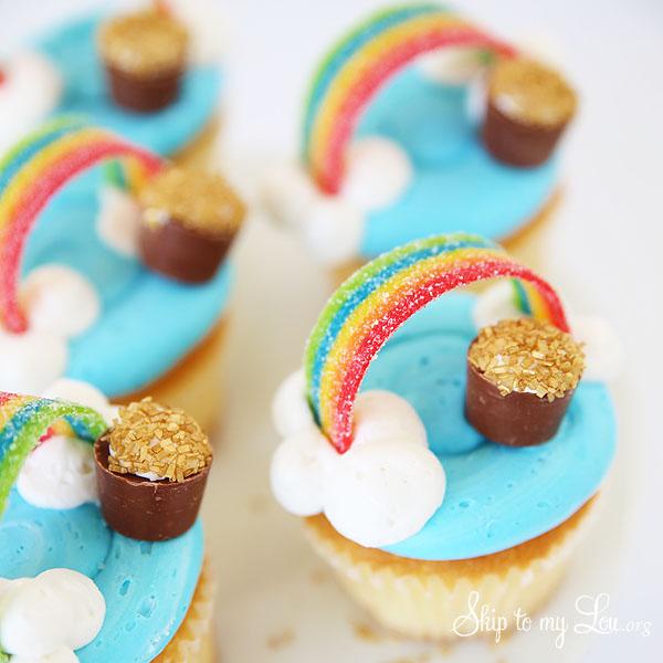EASY  Cute Rainbow Cupcakes Skip To My Lou